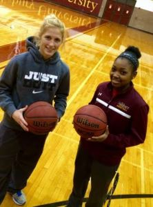 Sarah Seipp and Anna Hackett have shared a backcourt dating back to AAU days. (Photo: Mitchell Northam)