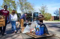 Hannah Wichrowski photo. SGA members work the event.