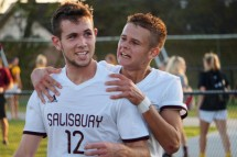 SU men's soccer vs. Catholic on Sept. 27, 2017. Drew Williams photo